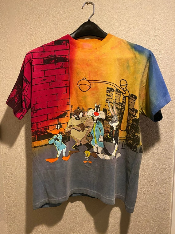 Rare Vintage 90's Looney Tunes multi-color T- shir