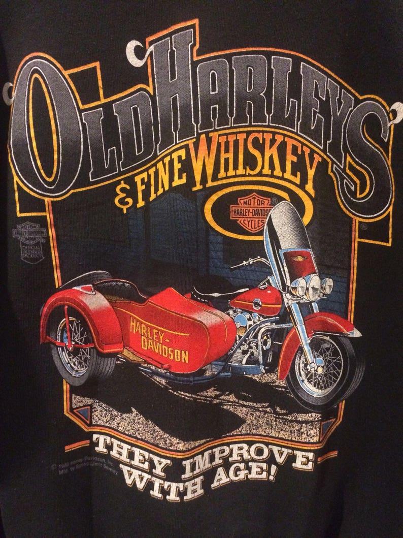 Vintage 1988 Harley-Davidson whiskey sweatshirt