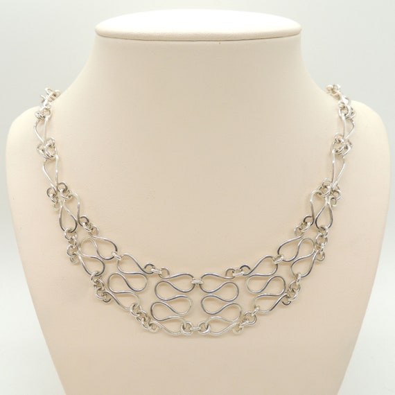 Sterling Silver Chain Necklace Vintage