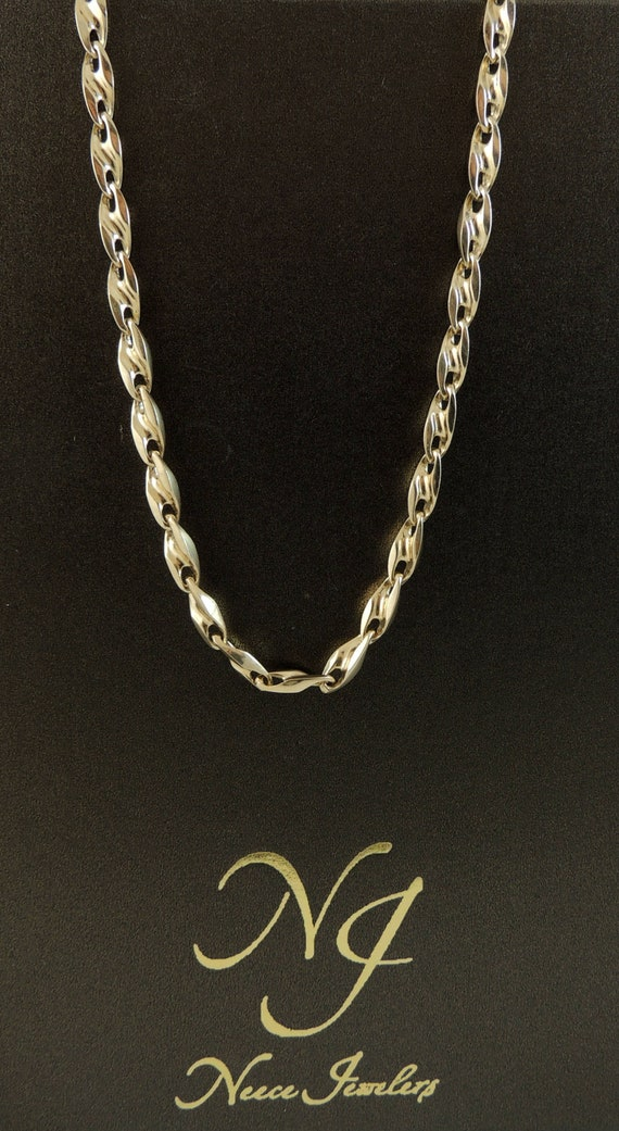 33ef92a7476ea 14K Gold Puffed Anchor Marine Chain 5 MM 20