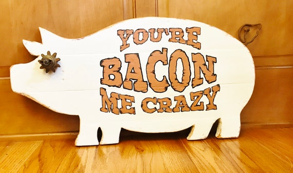 Industrial Farmhouse White Wood Pig Wall Decor