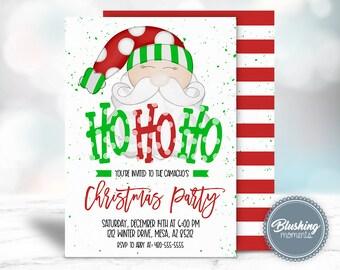 Christmas Party Invitation Ideas.Kids Christmas Party Invitations Etsy