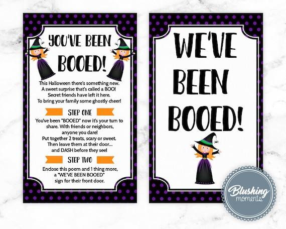 We Ve Been Booed Printable Halloween Sign We Ve Been Etsy