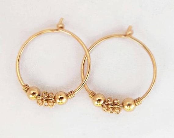 12mm Gold Hoop Earrings Tiny Hoops Earrings For Baby Tiny Etsy