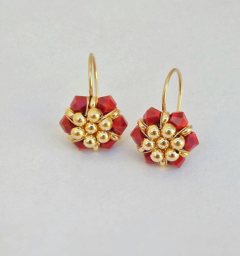 Long Drop Boucle d/'oreille perle boucles d/'oreilles Fleurs Branche Bijoux Accessoires Céramique