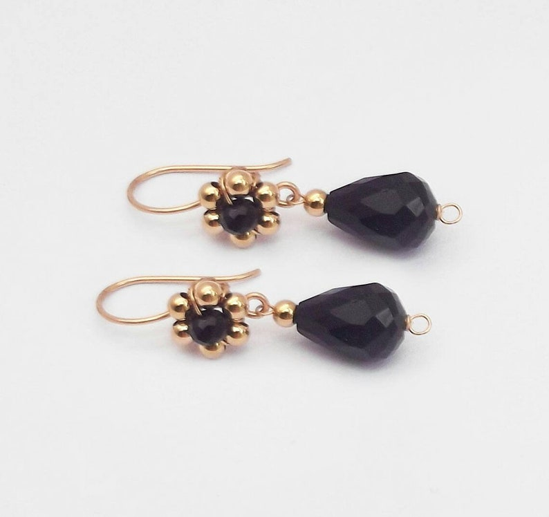 78ae01395ca4 Pendiente flores pendiente negros pendiente oro pendientes
