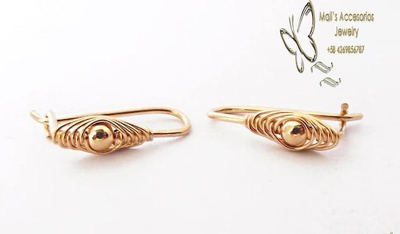Baby Earrings Hypoallergenic Thin Gold Earrings For Baby Etsy
