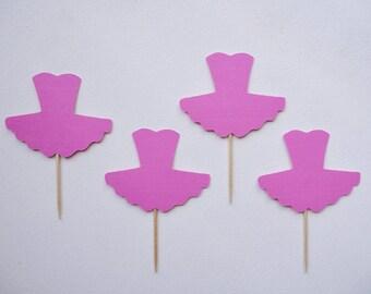 Pink Tutu Cupcake Toppers