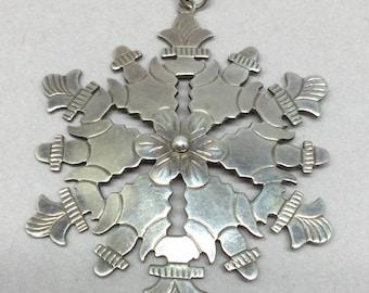 Vintage Sterling Silver Hand Made Pendant