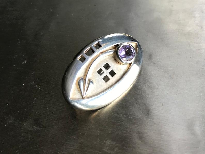 Silver Mackintosh style brooch