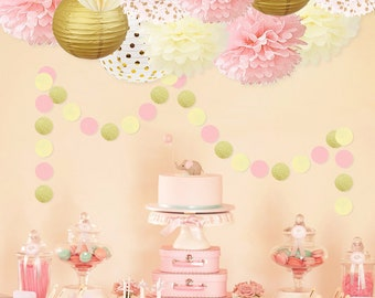 Pink And Gold Princess Party Decorations Set Girls Birthday Girl Baby Shower