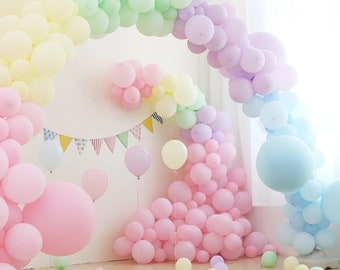 PASTEL BALLOONS Macaron Balloons Baby Shower Color Candy Unicorn Birthday