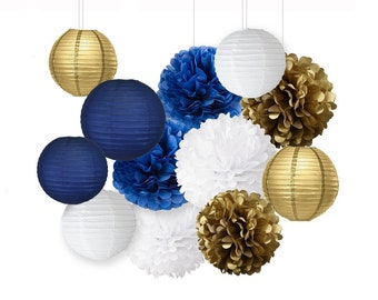 Navy And Gold Etsy