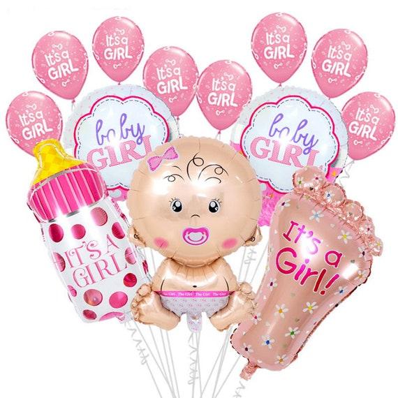 Baby Shower Balloon Set  It/'s a Boy Foot Foil Balloons Happium