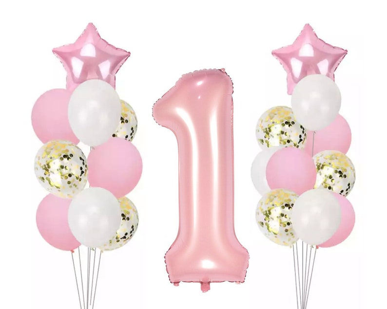GIANT PINK Number 1 Balloons Pink Party Girls