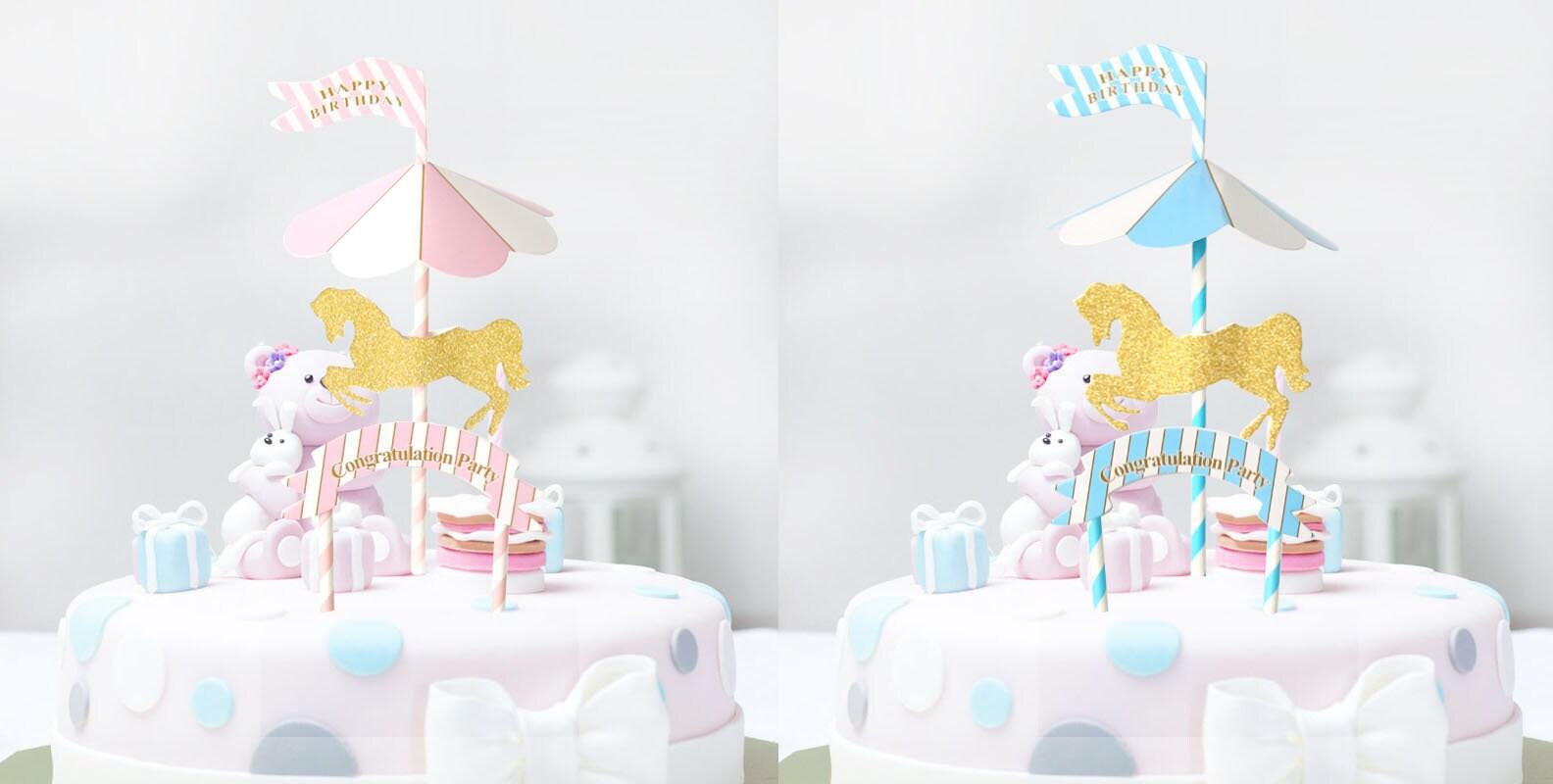 Carousel Horse Cake Topper Horse Cake Topper Carousel Party Etsy