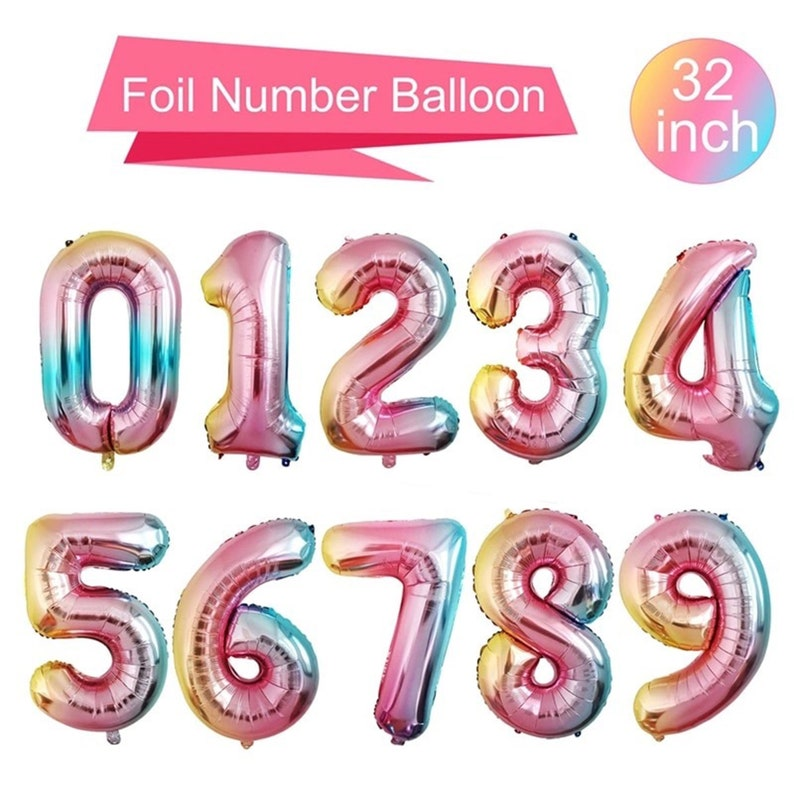 """32/"""" LETTER Foil Number Balloons Air Baloons Large Happy Birthday Party Ballons"""