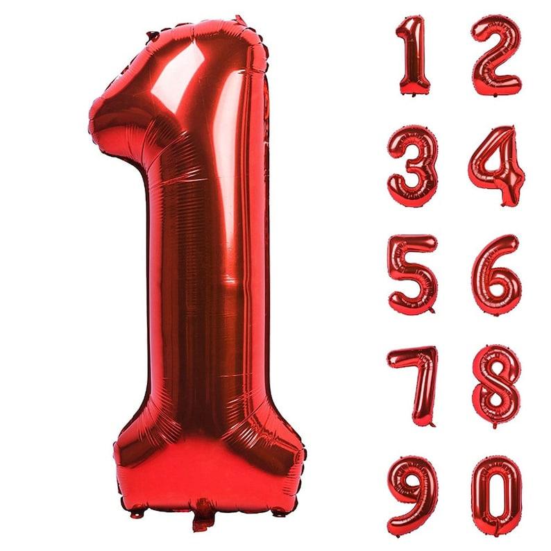 Red 32 Number Balloons Number Balloons Age Balloons Giant Number Balloons Birthday Age Balloons Jumbo Balloons
