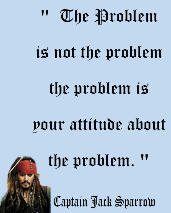 Captain Jack Sparrow Quote, wall art photo print