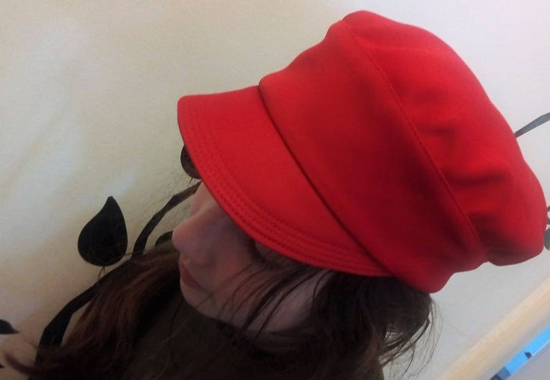 17a16385e9c6c6 Red newsboy cap | Etsy