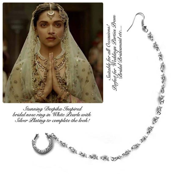 Indian Nose Ring Wedding Nose Ring Chain Nath Bridal Etsy