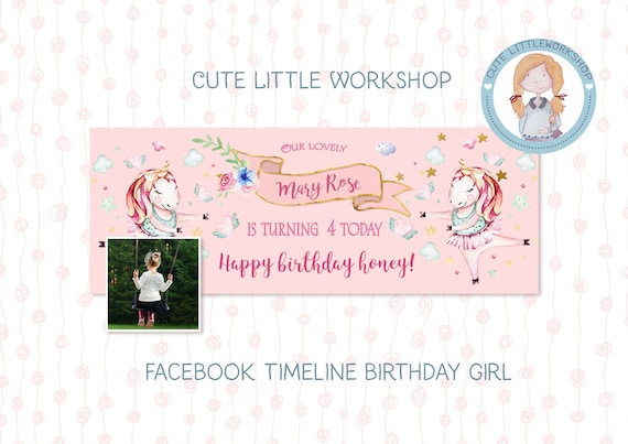 Facebook Template Photoshop Facebook Cover Birthday Etsy