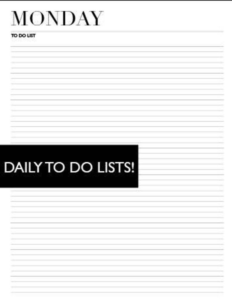 Minimal DAILY TO DO Lists image 0