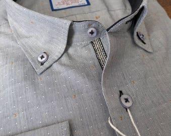 Button down shirt, dress shirt,cotton,hand made,button up shirt, oxford shirt,jacquard shirt
