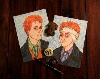 Van Gogh Weasley Twins 5x7 Print Set