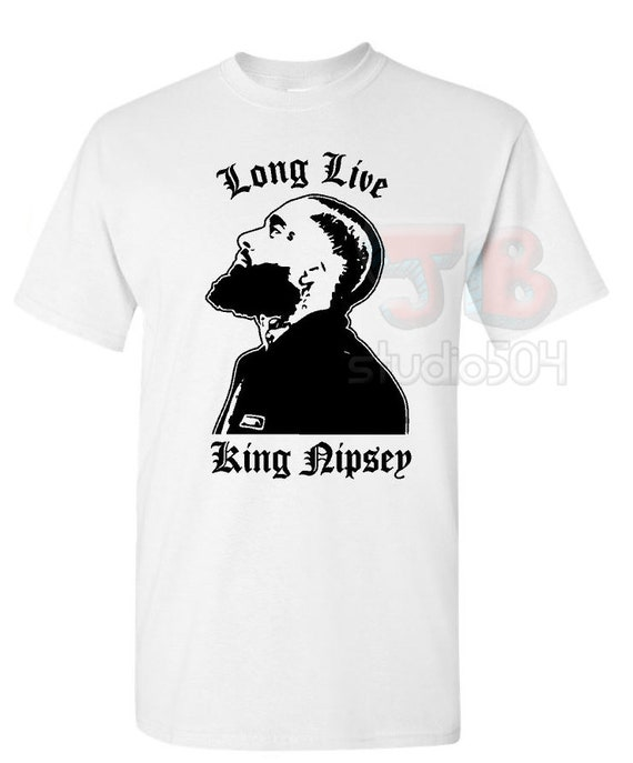 LONG LIVE NIPSEY HUSSLE T SHIRT CRENSHAW MARATHON VICTORY LAP HIP HOP RAP BLACK