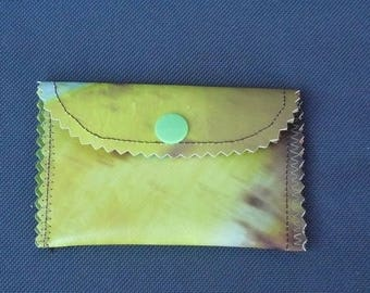 recycled canvas wallet