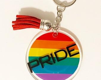 LGBTQ Keychain Love Glitter Keychain Pride Glitter Keychain