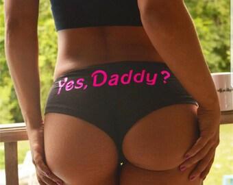 Yes Daddy? Panties Black