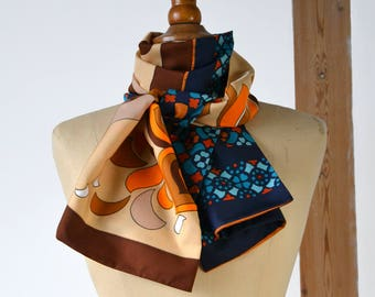 scarf, graphic and vintage