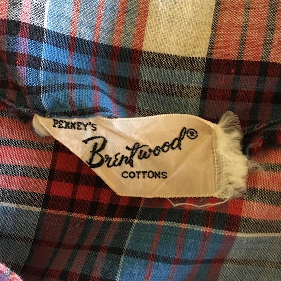 Vintage 40's-50s Plaid Cotton Dress - image 7