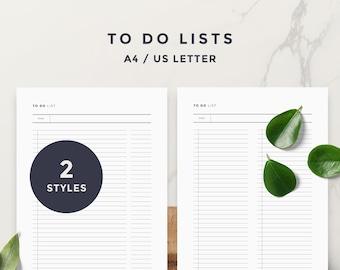 Minimalist To Do List l To Do List, To Do, Printable To-Do List, To-Do List Printable, Grocery List, Bucket List, Checklist