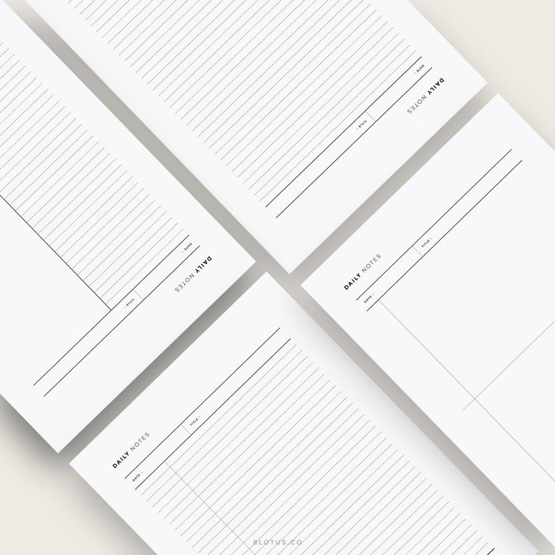 image relating to Notes Printable called Minimalist Notes Printable l Included Paper, Pupil Notes, In direction of Do Listing, Printable Diary, Planner Notepad, Notepad, Notes, A4, US Letter
