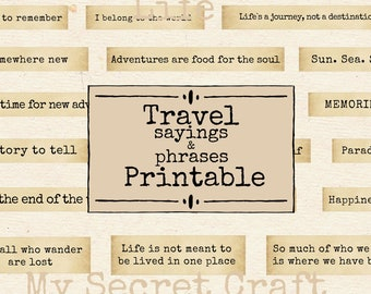 Travel quotes | Etsy