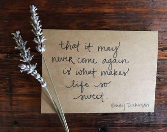 Life so sweet card