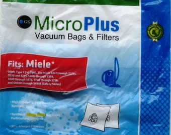 Miele Vacuum Bags Type FJM Synthetic Hepa Media by Green Klean