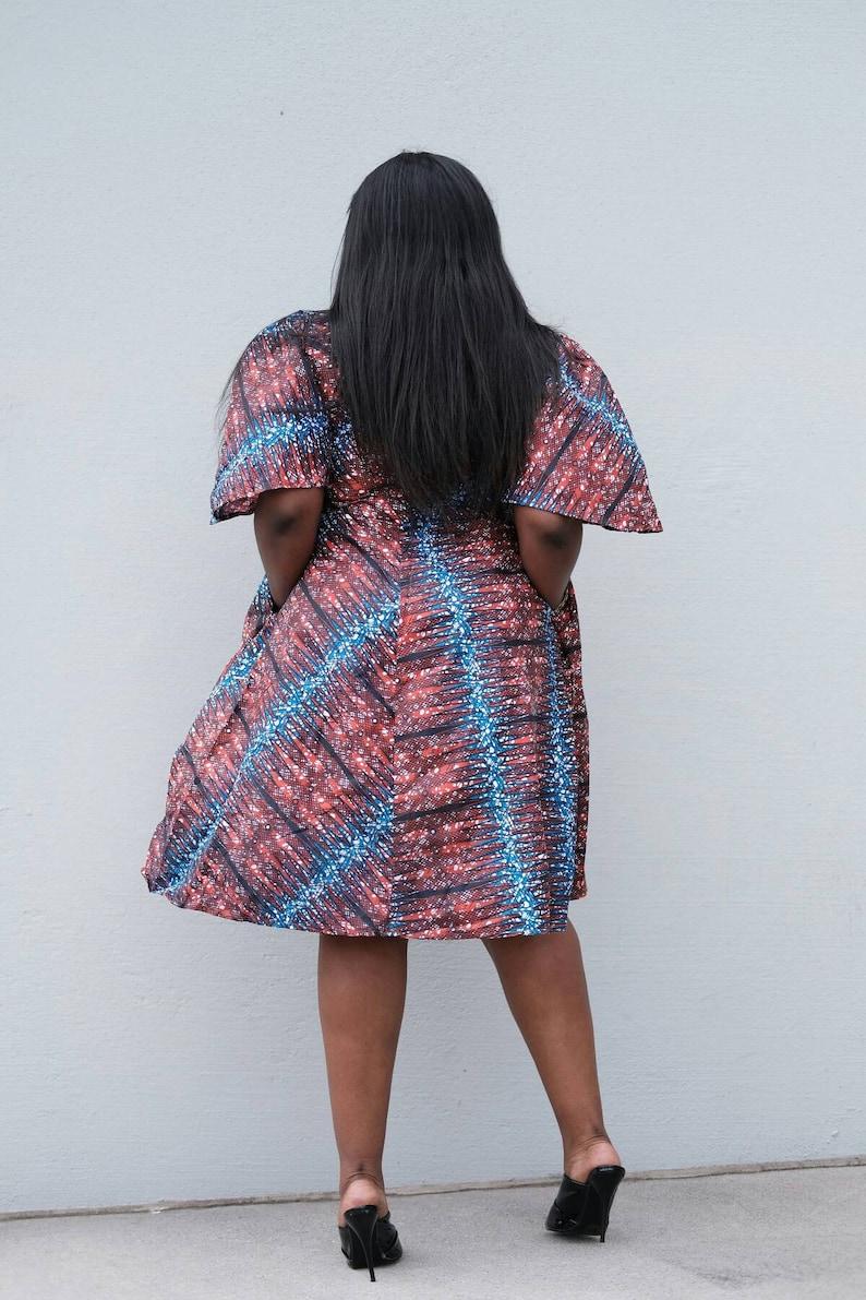 African print women clothing ankara multi color  women Ankara print  knee length  dresses African fashion African clothing