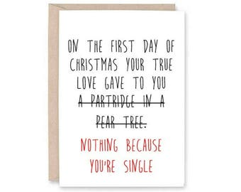 Funny Christmas Card - single christmas card, funny christmas, male christmas card, merry christmas card, holiday single card, funny holiday
