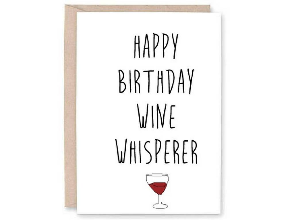 Lustige Happy Birthday Card Wein Whisperer lustige | Etsy