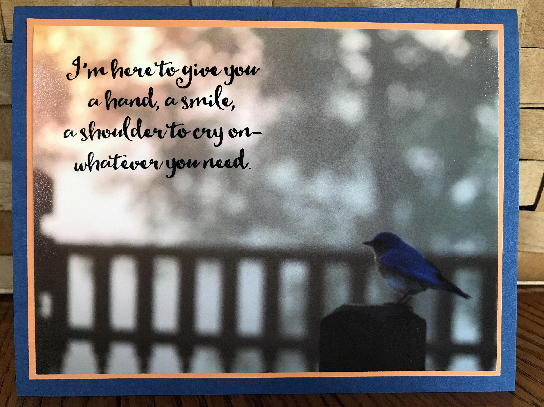 Thinking Of You Bluebird Greeting Card Etsy