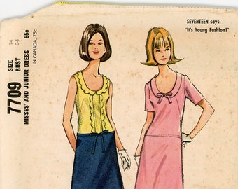 Original Vintage McCalls Sewing Pattern - 7709 ca.1965 - UNCUT - FACTORY FOLDED