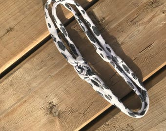 Sailor Knot Headband - Black & White