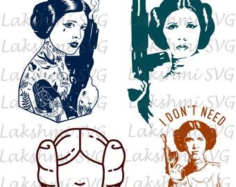 Leia svg,Star Wars svg,Princess Leia svg, Princess svg, Star Wars fan svg, Cricut svg, Silhouette svg,Vector Files,png,dxf