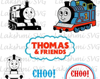 Thomas The Train SVG,Thomas The Train PNG,Thomas The Train Silhouette,SVG Files for Silhouette, Cut Files,Train svg,dxf,png,eps