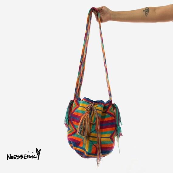 Multicolored Crochet Crossbody Boho Bag
