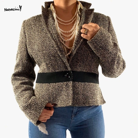 Vintage Valentino Roma Tweed Blazer Jacket